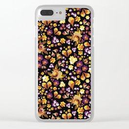 Forget-Me-Not (Yellow) Clear iPhone Case
