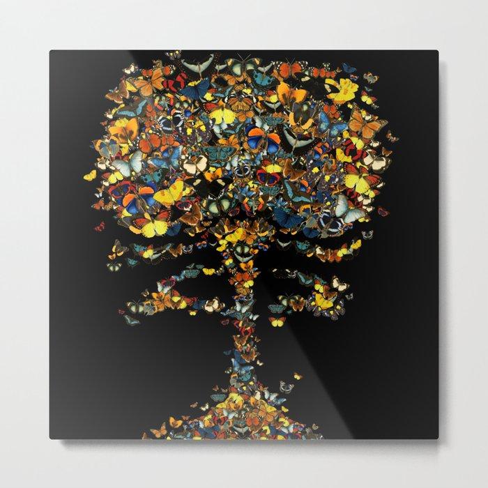 Atomic Butterfly Metal Print