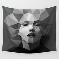 monroe Wall Tapestries featuring Monroe by David