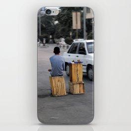 The Walnut Seller Boy iPhone Skin