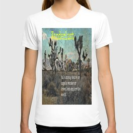 Wanderlust In The Wild Travel Quote T-shirt