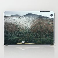 cabin iPad Cases featuring Cabin in the woods by General Design Studio