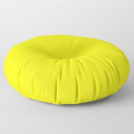 Brightest Yellow Solid Color Plain Simple Lemon Floor Pillow