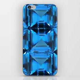 BLUE CRYSTAL GEMS PATTERN iPhone Skin