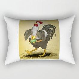 Proud Rooster Rectangular Pillow