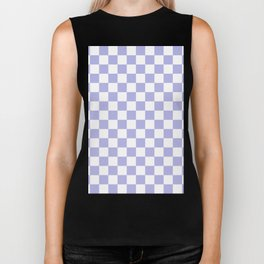 Gingham Soft Lavender Blush Checked Pattern Biker Tank