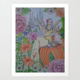 Fairy and Bunny Art Print