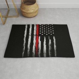 USA red line flag Rug