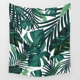 Tropical Jungle Leaves Pattern #1 #tropical #decor #art #society6 Wall Tapestry
