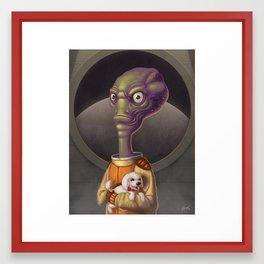 Spacehead Joe Framed Art Print