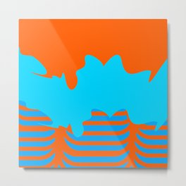 Epic | Orange Blue by Kimberly J Graphics Metal Print