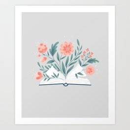 Book Of Plants Art Print