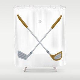 I Love Golfing Shower Curtain