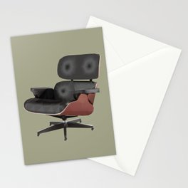 Eames Lounge Chair Polygon Art Stationery Cards