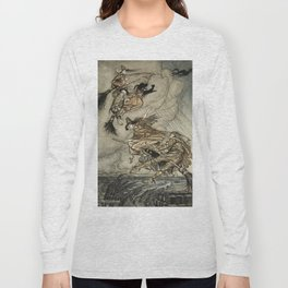 "Four Witches ""Up The Chimney"" by Arthur Rackam Long Sleeve T-shirt"