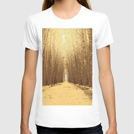 The road in a barren forest T-shirt