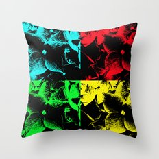 Pop Art Hydrangea Throw Pillow