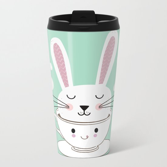 Take a Cup of Bunny Metal Travel Mug