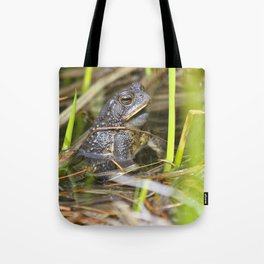 Toad in the pond Tote Bag