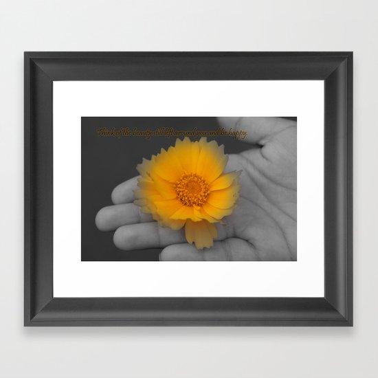 Be Happy. Framed Art Print