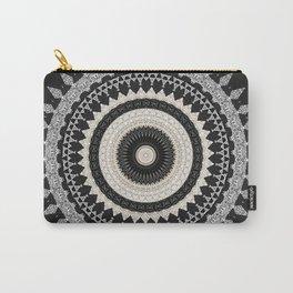 Grey Taupe Boho Mandala Design Carry-All Pouch