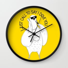 Dove singing Stevie Wonder | Animal Karaoke | Illustration Wall Clock