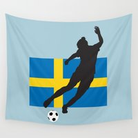 sweden Wall Tapestries featuring Sweden - WWC by Alrkeaton