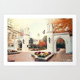 Indiana University Bloomington Sample Gates Art Print