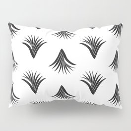 Pandanus Leaf Pattern - Black Pillow Sham