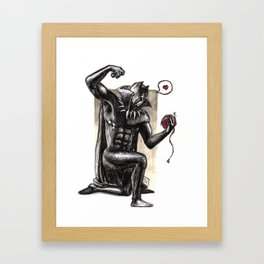 Black Panther (Not actually a cat) Framed Art Print