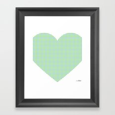 I love you this much... (blue) Framed Art Print