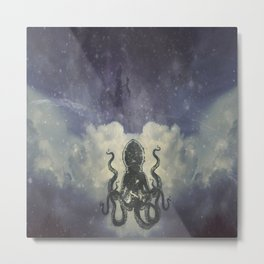 Flying Squid Metal Print