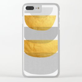 Abstract Golden Art XX Clear iPhone Case