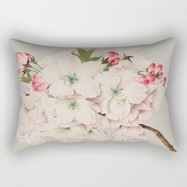 Vintage Japanese Watercolor - Mikuruma Gaeshi Rectangular Pillow