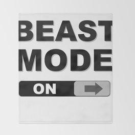 Slide to Unlock Beast Mode Throw Blanket