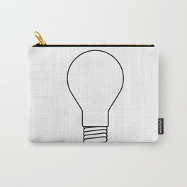 White Lightbulb Outline Carry-All Pouch