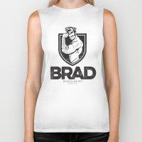 brad pitt Biker Tanks featuring BRAD by BradLee