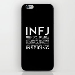 INFJ (black version) iPhone Skin
