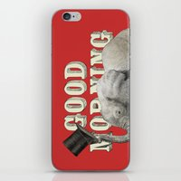 good morning iPhone & iPod Skins featuring Good Morning by Eric Fan