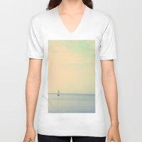 sail V-neck T-shirts featuring Sail  by Sam Medakovic