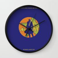 jojo Wall Clocks featuring EGYPT (CHAINS ARE ON) - DIO - JOJO by Mirco Greselin