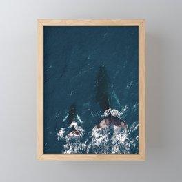 Ocean Family Whales Framed Mini Art Print