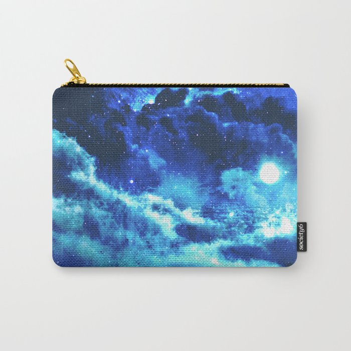 Blue on Moon Carry-All Pouch