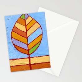 Winter Leaf Stationery Cards