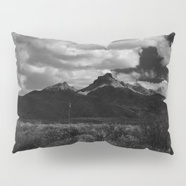 Dramatic Clouds over Mountain Range in Big Bend Pillow Sham