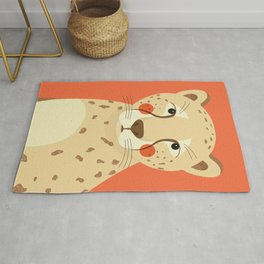 Cheetah, Animal Portrait Rug