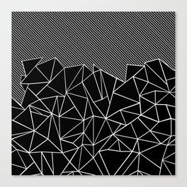 Ab Lines 45 Black Canvas Print