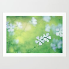 surrounded by blue Art Print