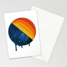 049 Cosmic retro ice cream roll melting Stationery Cards