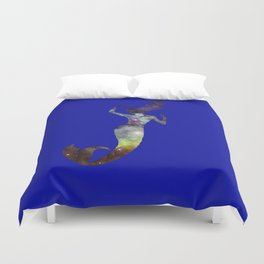 Galaxy Mermaid 2 (Navy) Duvet Cover